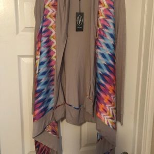 Vertigo Cardigan Electric Beat Grey size M NWT